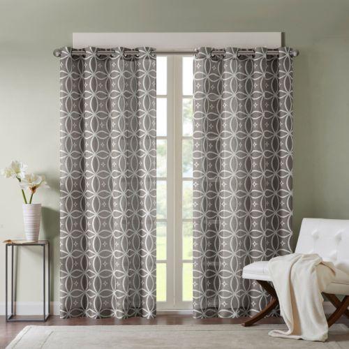 Madison Park Zafar Fret Printed Curtain