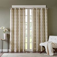 Madison Park Zafar Fret Printed Curtain