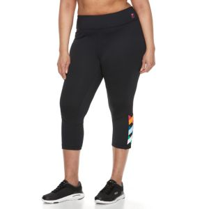 Plus Size FILA SPORT® Criss Cross Crop Leggings