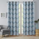 Intelligent DesignNara Chevron Printed Window Curtain