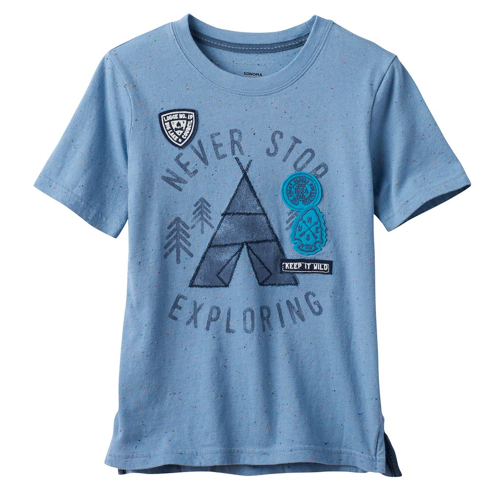 Boys 4-7x SONOMA Goods for Life™ Space-Dyed Embroidered Graphic Tee