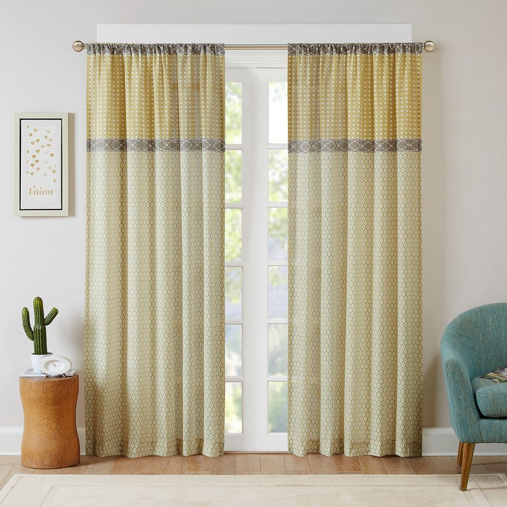 Intelligent Design Weston Printed Window Curtain