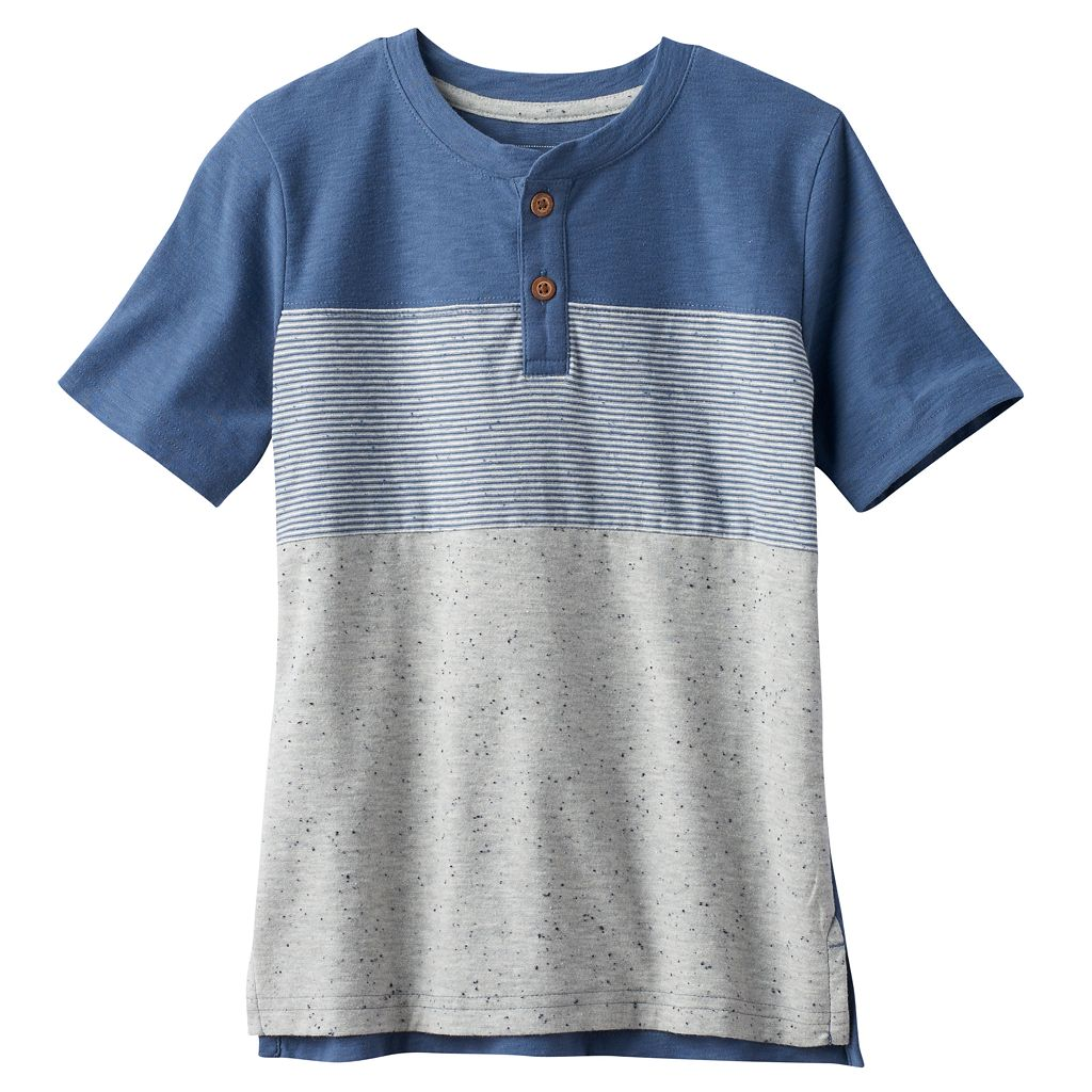 Boys 4-7x SONOMA Goods for Life™ Space-Dyed Stripe Henley Tee