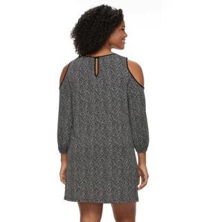 Plus Size Apt. 9® Cold-Shoulder Shift Dress