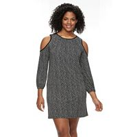 Plus Size Apt. 9® Cold-Shoulder Shift Dress