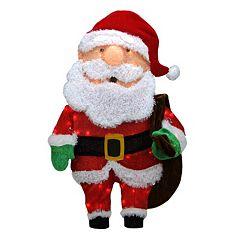 Northlight 32' Pre-Lit Santa Claus Candy Cane Lane Christmas Yard Decor