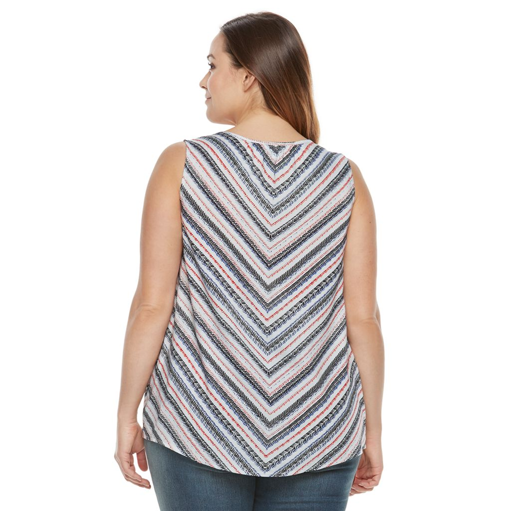 Plus Size SONOMA Goods for Life™ Front Tie Tank