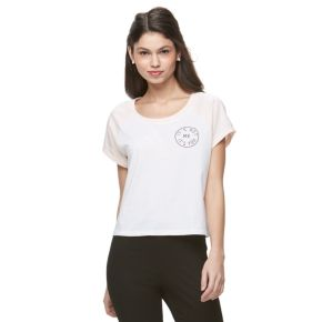 "Juniors' Jolie Vie Crop ""It's You"" Graphic Tee"