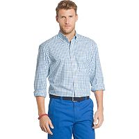 Men's IZOD Essential Classic-Fit Tattersall Plaid Button-Down Shirt