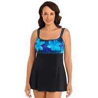 Women's Great Lengths Hip Minimizer Printed Empire Swimdress