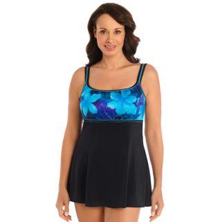 Women's Great Lengths Hip Minimizer Printed Empire Swimdress