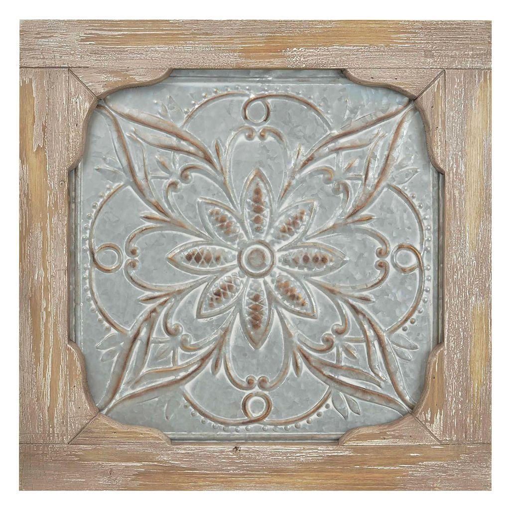 Iron & Wood Medallion Wall Decor