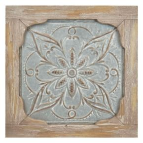 Iron & Wood Medallion Wall Decor