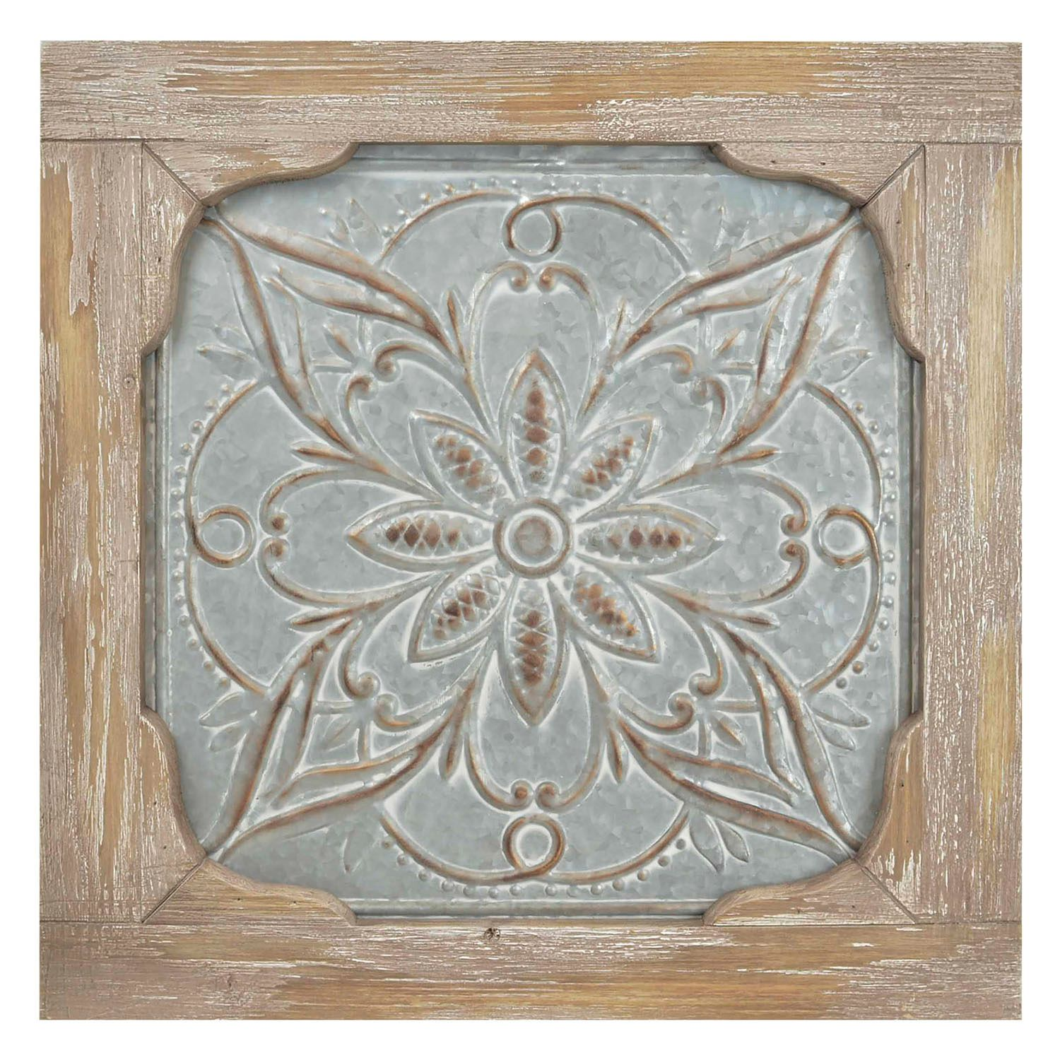 Iron U0026 Wood Medallion Wall Decor