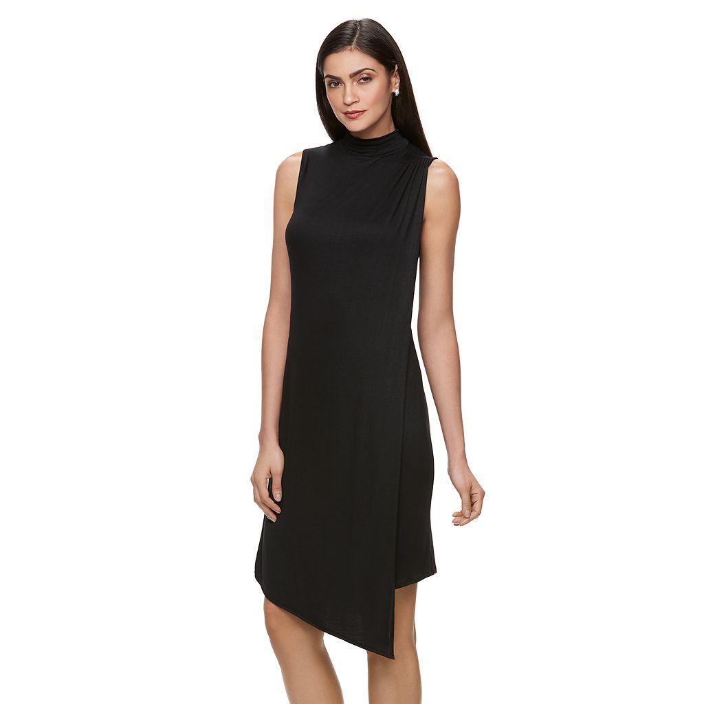 Women's Jennifer Lopez Mockneck Asymmetrical Sheath Dress