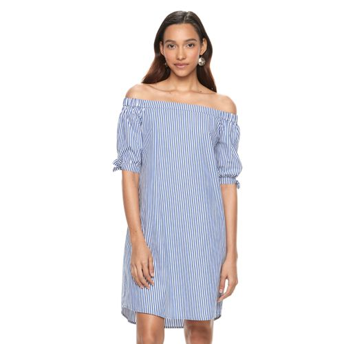 Women's Apt. 9® Striped Off-the-Shoulder Dress