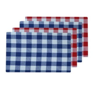 Celebrate Americana Together 4-pc. Reversible Gingham Placemat Set