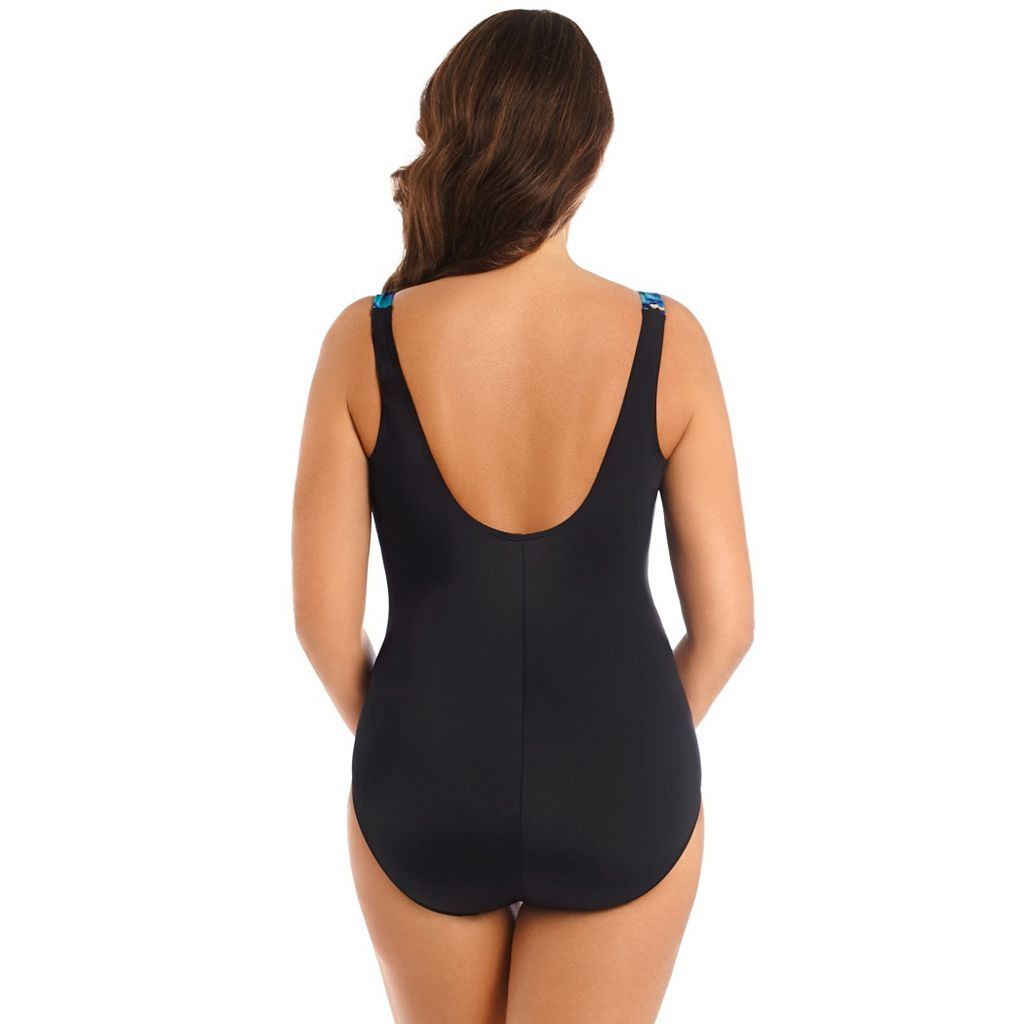 Women's Great Lengths Tummy Slimmer Wavy One-Piece Swimsuit