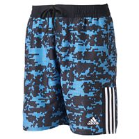 Big & Tall adidas Camo Grid Microfiber Volley Swim Trunks