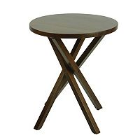 Casual Home Criss Cross End Table