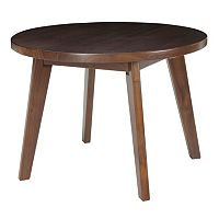 Casual Home Genuine Walnut Round Coffee Table