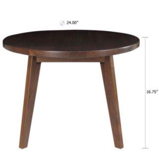 Casual Home Genuine Walnut Round Coffee Table