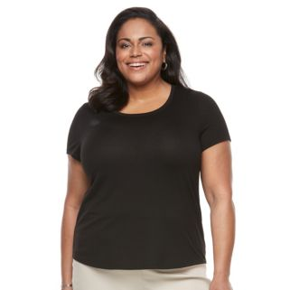 Plus Size World Unity Solid Scoopneck & Printed Scarf Tee