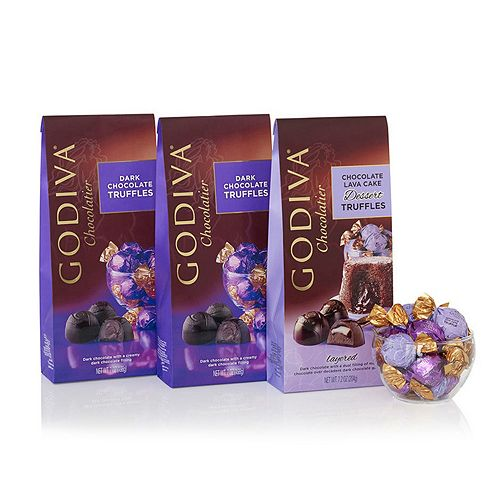 Godiva Wrapped Dark Chocolate Gift Set