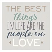 Artissimo 'The Best Things' Canvas Wall Art