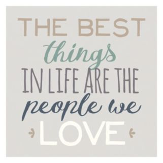 """Artissimo """"The Best Things"""" Canvas Wall Art"""