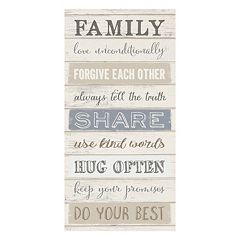 Artissimo 'Family Love Unconditionally' Canvas Wall Art