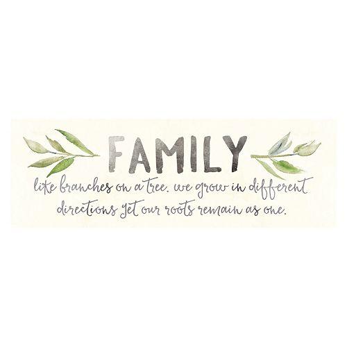 "Artissimo ""Family Branches"" Canvas Wall Art"