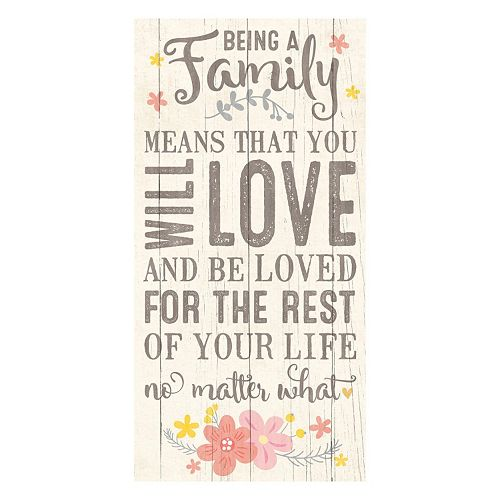 """Artissimo """"Being a Family"""" Canvas Wall Art"""