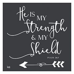 Artissimo 'He is My Strength' Canvas Wall Art