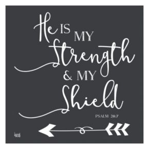 """Artissimo """"He is My Strength"""" Canvas Wall Art"""