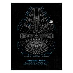Star Wars Millennium Falcon Modern Canvas Wall Art