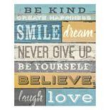 "Artissimo ""Be Kind"" Canvas Wall Art"