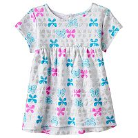 Baby Girl Jumping Beans® Print Slubbed Swing Top