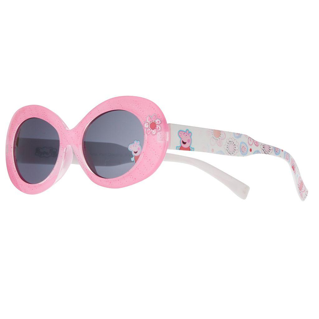Girls 4-6x Peppa Pig Oval Glitter Sunglasses