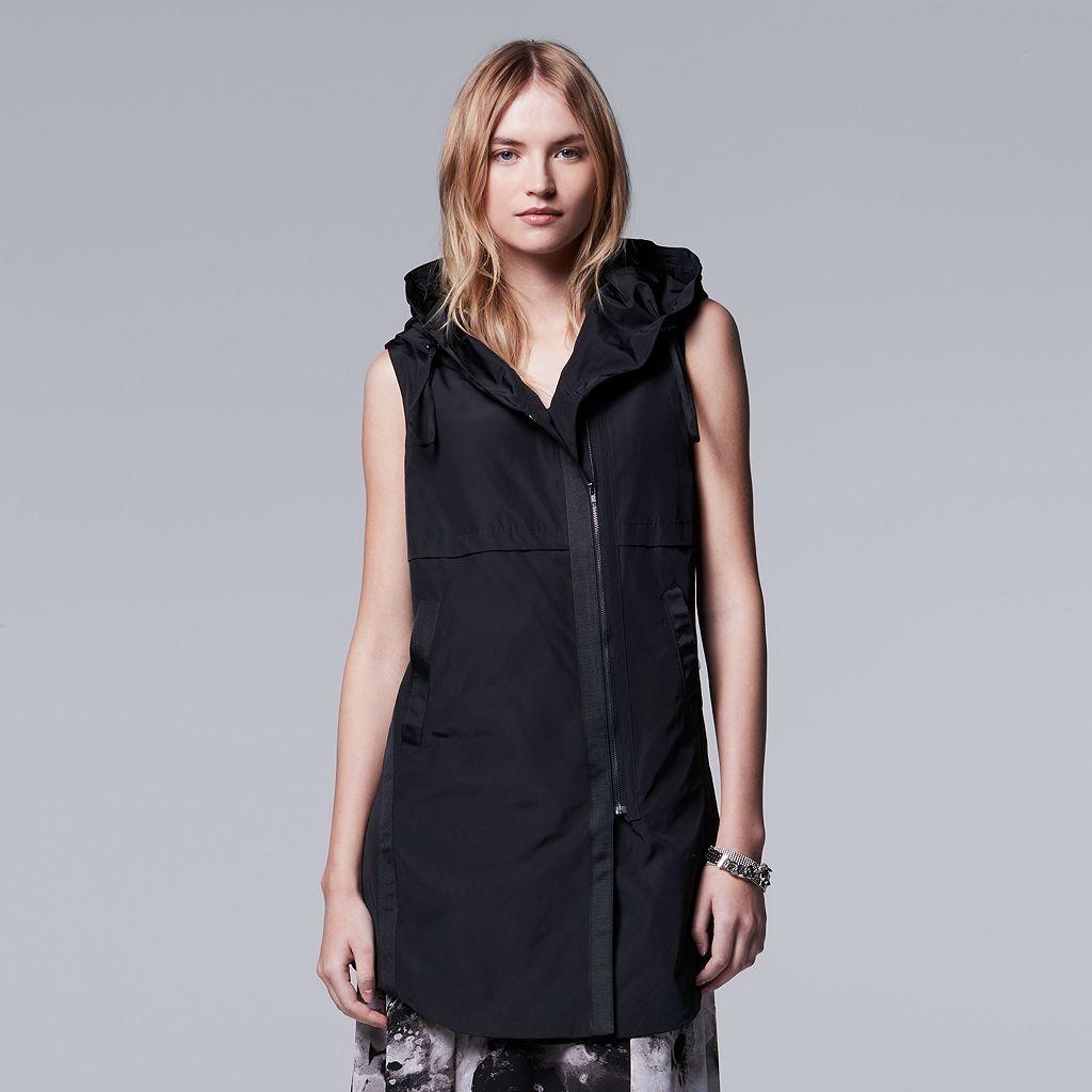 Petite Simply Vera Vera Wang Asymmetrical Vest