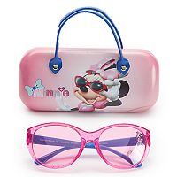 Disney's Minnie Mouse Girls 4-6x Oval Sunglasses & Case Set