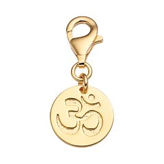 TFS Jewelry 14k Gold Over Silver Om Charm