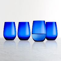 Food Network™ Cobalt Blue 4-pc. Stemless Wine Glass Set