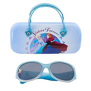 Disney's Frozen Anna, Elsa & Olaf Girls 4-6x Sunglasses & Case Set