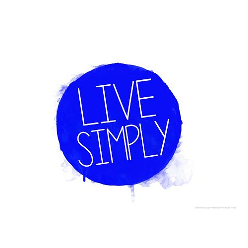 "Art.com ""Live Simply"" Wall Art Print"