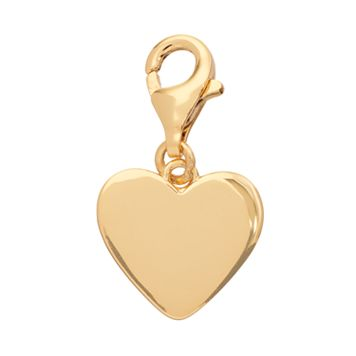 TFS Jewelry 14k Gold Over Silver Puffed Heart Charm