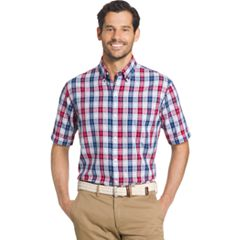 Men's Arrow Classic-Fit Plaid Button-Down Shirt