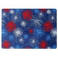 Celebrate Americana Together Vinyl Fireworks Placemat
