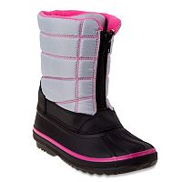 Rugged Bear Girls' Water-Resistant Snow Boots