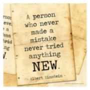 "Art.com ""A Person Who Never Made A Mistake"" Wall Art Print"